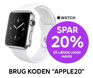Spar 20 % på Apple Watch