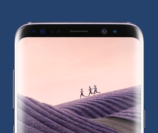 Samsung Galaxy S8 med inifinity display