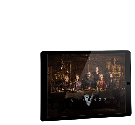 Se Vikings på din tablet, mobil og dit tv